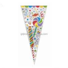 Christmas Party SANTA HAT Loot Gift Sweet Treat Plastic Cellophane Cone Bags