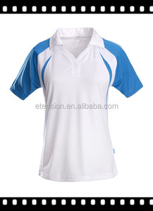 2016 New Design Ladies Cheap Sports School Polo T Shirt