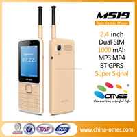 China 2.4 inch 2G with GSM signal antenna, 1000mAh 4U big battery strong signal, low price china mobile phone for sales