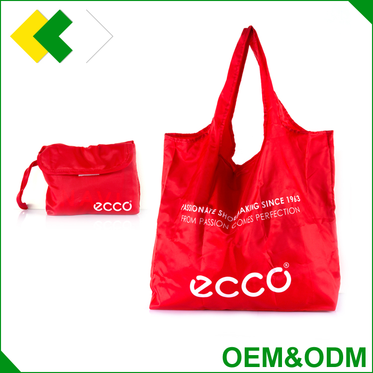 Customized Canvas nonwoven nylon polyester shopping bag printed logo gift laundry reusable fold up polyester bag