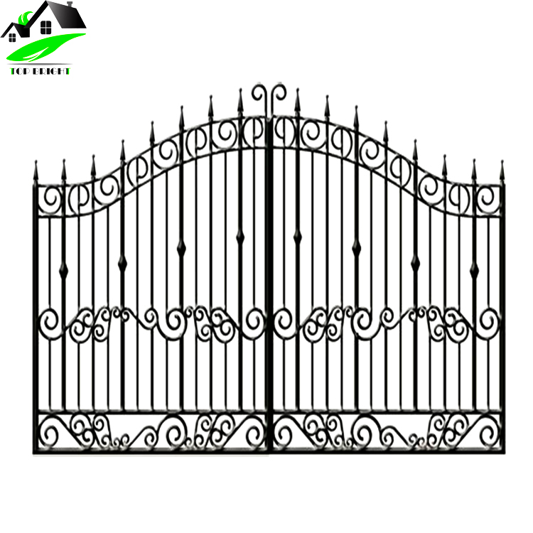 Simple Luxury Cast Main Wrought Metal Iron Gate Door With Grill ...