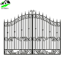 simple luxury cast main wrought metal iron gate door with grill fence design for house