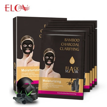 Private Label Moisturizing Purifying Non-Woven Face Mask Best Selling Deep Cleansing Bamboo Charcoal Black Facial Mask