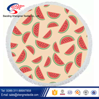 Trade assurance eco-friendly microfiber round beach towel made in China