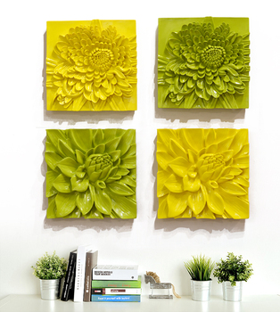 Home decor items resin 3D wall decoration flower