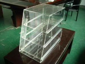 custom acrylic food display case rack