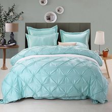 good quality polyester four seasons home used pure color bedsheet / bed cover