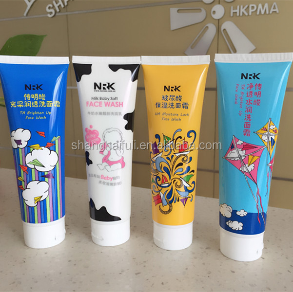 Skin Care Face Wash Cosmetic Plastic Tube Packaging