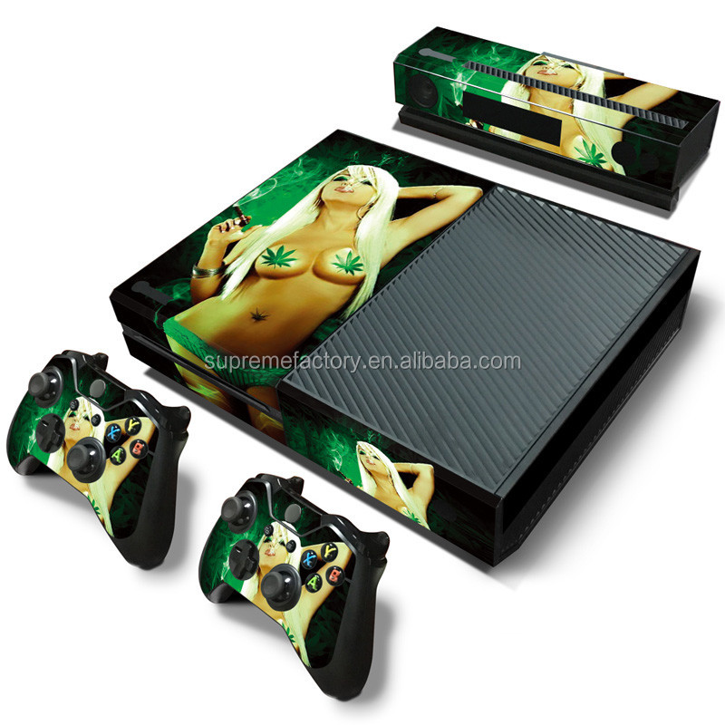 Hot Sexy Girl Smoke Decal Skin Sticker for Xbox ONE Controllers Console