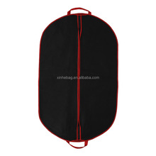 Simple design folding non woven fabric mens suit garment bag / zipper suit cover bag