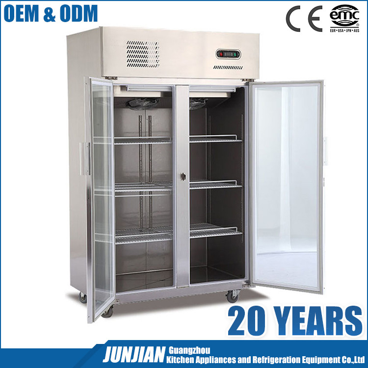 2 Glass Door Restaurant Stainless Steel Industrial Fridge Freezer / Industrial Fridge / National Fridge