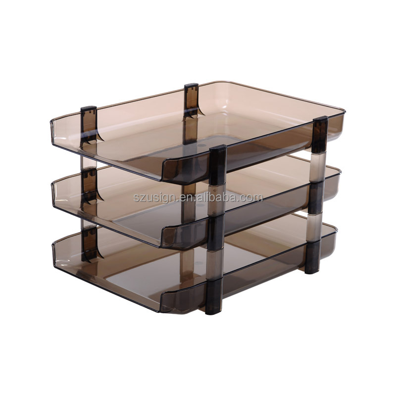 US-4033 Office Plastic Folding Desk Tray File Document Tray