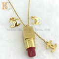 Lipstick China Imitation Stainless Steel Pendant Jewelry For Young Girls