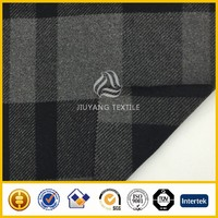 High quality twill Check&plaid wool fabric/woolen fabric brushed