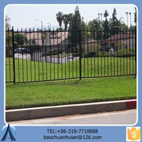 Residential Ornamental Wrought Iron Fence Models Design For Home Garden/Black Iron Fence Wholesale /High-quality Safety Fence