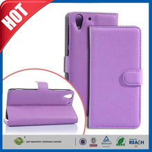 C&T New style leather wallet folio stand flip cover case for htc desire eye