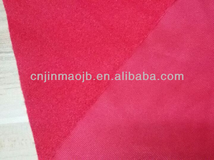 100% polyester 220gsm hotsale knitting garment T-shirt Clinquant velvet superpoly brushed polyester fabric