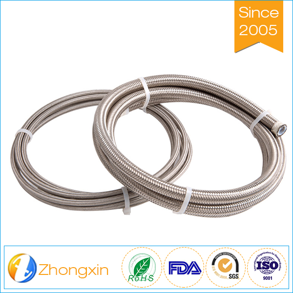 1/8inch flexible PTFE 304 stainless steel braided ptfe <strong>Hose</strong>