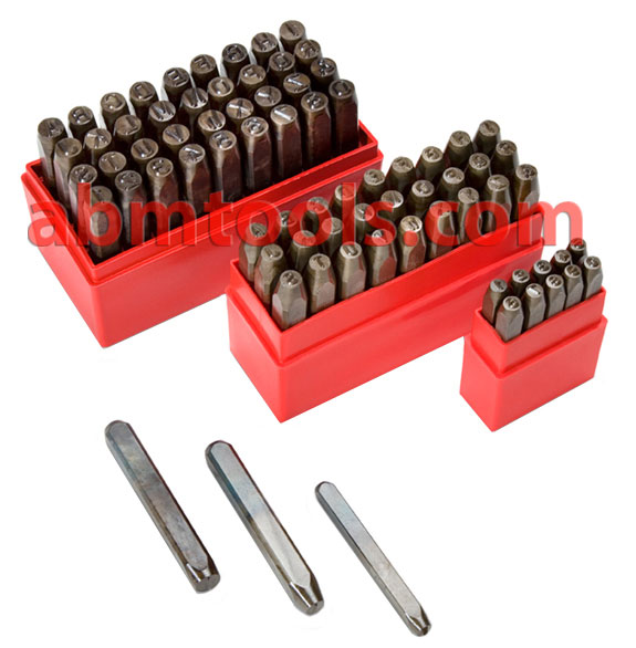 Letter & Number Punches - Letter and Number Sets - Steel Stamps