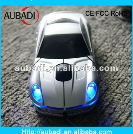 2013 Latest computer hardware Silver Car Mouse with LED light