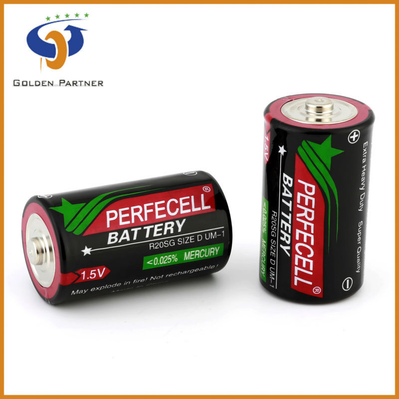 Long running time r20 d size um-1 1.5v electrical toy battery