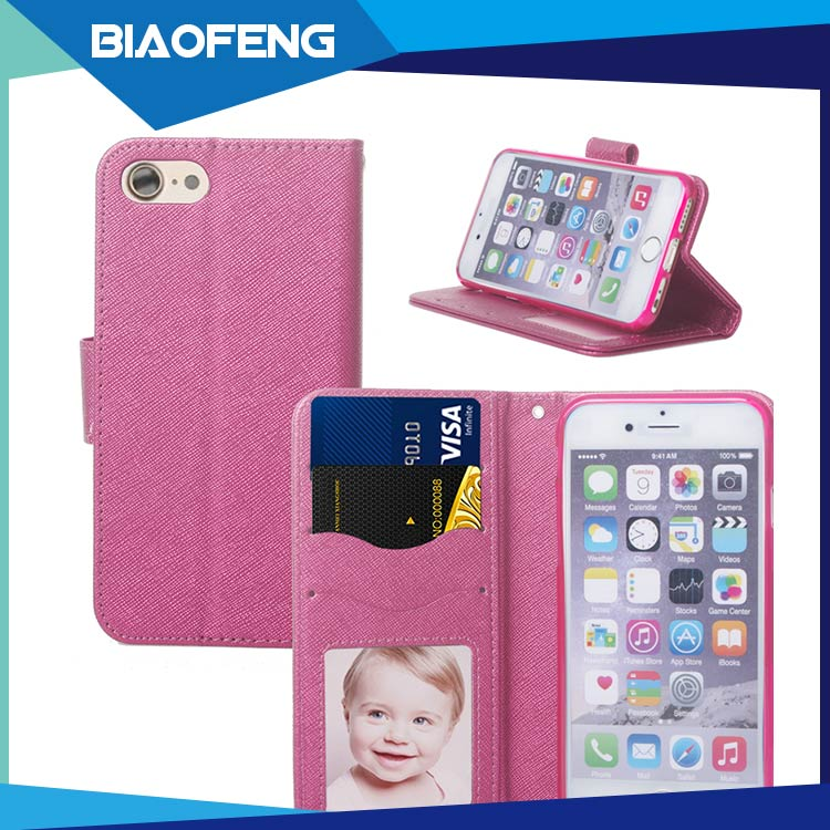 South american hot sale PU leather foldable wallet case cell phone case for iphone 6,6 plus,7,7 plus