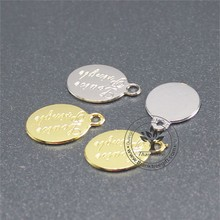 wholesale small custom engraved brand logo metal tag for jewelry