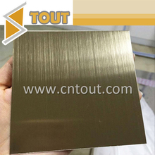 Color Stainless Steel Bronze Sheet Brush Finish Brass Stainless Steel Sheet