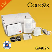 Concox fire alarm module GM02N gsm remote controller switch 12v dc with wireless alarm sirene/gas alarm detector