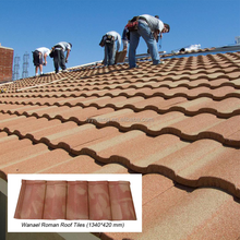 maintenance free roofing materials / stone coated metal roof tiles