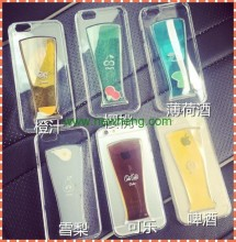 Beer Bottle Hard Back Transparent Case Cover Skin For Iphone 6 Plus