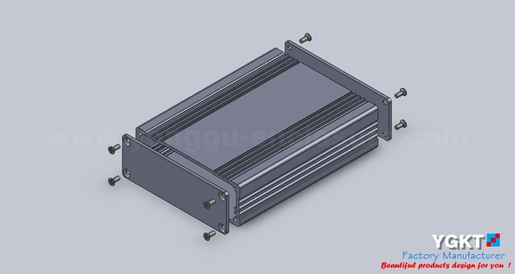 Aluminum Extruded Enclosure for electric box electronic enclosures use to project box