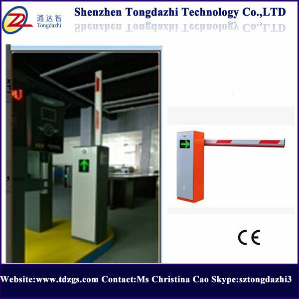 Parking entrance automatic barrier gate system with single bar