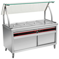 BN-B01 Commercial Electric Bain Marie With Curved Glass Shelf
