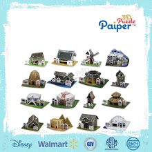 Paper craft build my world 3d puzzle education diy craft kits