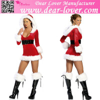 Wholesale professional xxxxl fancy dress Christmas hot sale santa costume