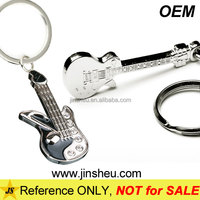 High Quality Custom Rhinestone Music Instrument Exclusive Metal Guitar Keychain