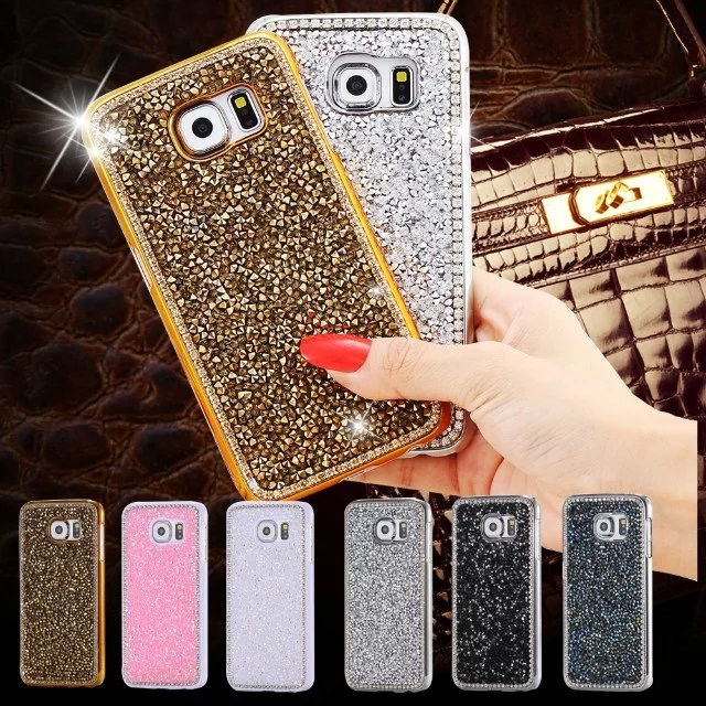 Bling Crystal Diamond Phone Case for Samsung S7,Luxury Diamond Hard Back Case for Samsung S7