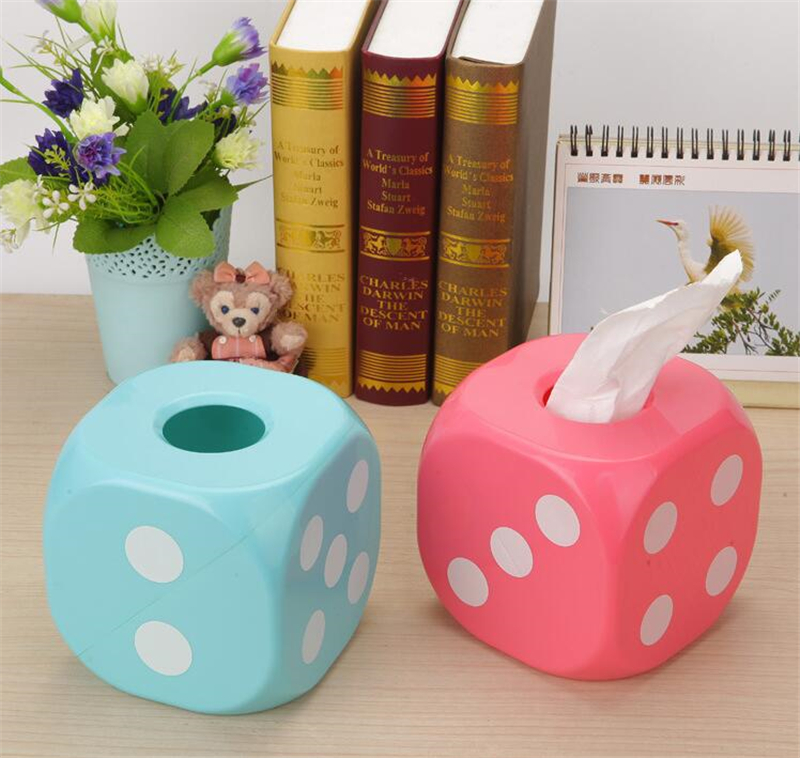 CT-725 Color dice tissue pumping Creative Home Car tissue storage box Restaurant Hotel Toilet Paper Holder