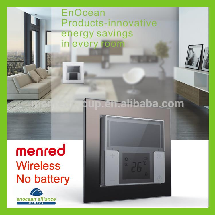 MENRED Home wall Solar power No batterty No wiring modular glass switch panel