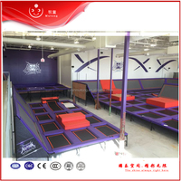 EU quality roof trampoline with imported jumping mat