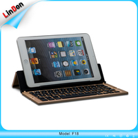 Tri Folding/Foldable Aluminum+ABS Bluetooth Wireless Keyboard Golden/Silver/Grey Color for iPhone