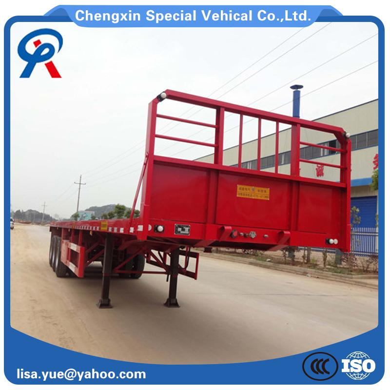 High quality long duration time 20ft flat bed semi trailer