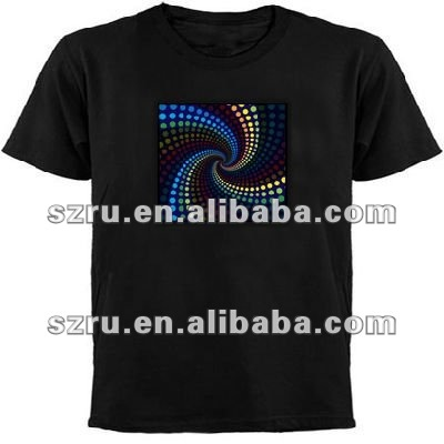 led el sound activated T shirt for Valentine gift