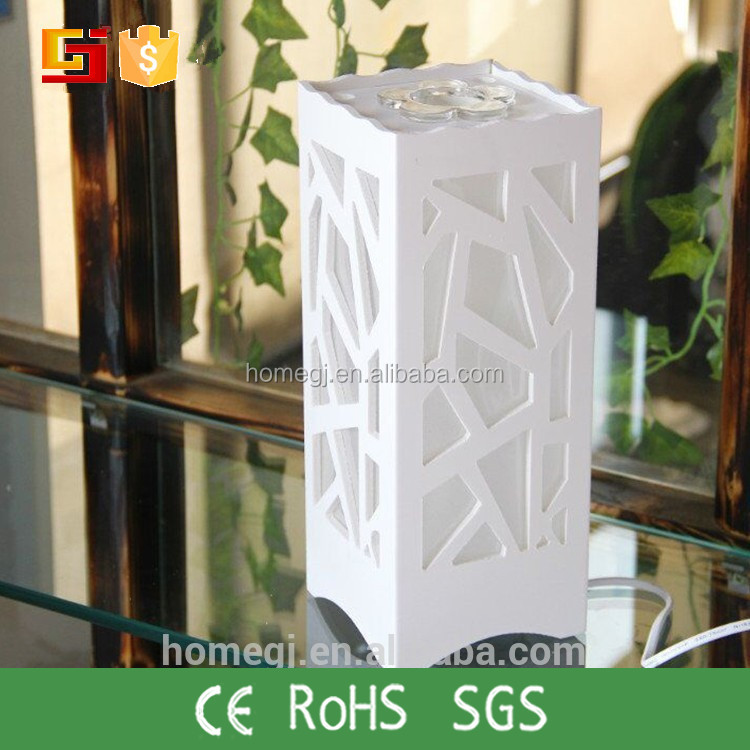Good Quality white Color Decorated Bedroom wood Table Lamp With Switches
