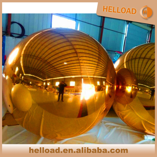 large custom color inflatable mirrored balloon sph for sale