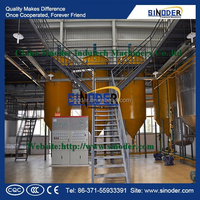 batch oil refinery plant , peanut oil refining machine ,soybean oil refinery equipment