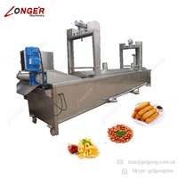 Automatic Continuous French Fries Deep Fryer Potato Banana Chips Fruit and Vegetable Crisps Frying Machine French Fries