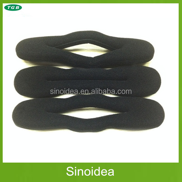 Black Easy Bending sponge hair rollers,twist hair bun