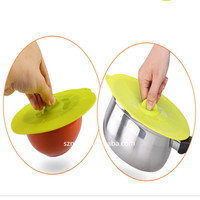 Food grape hot selling the creative fresh silicone microwave bowl cover&silicone keep fresh cover